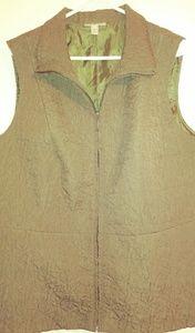 Dressbarn green womens vest